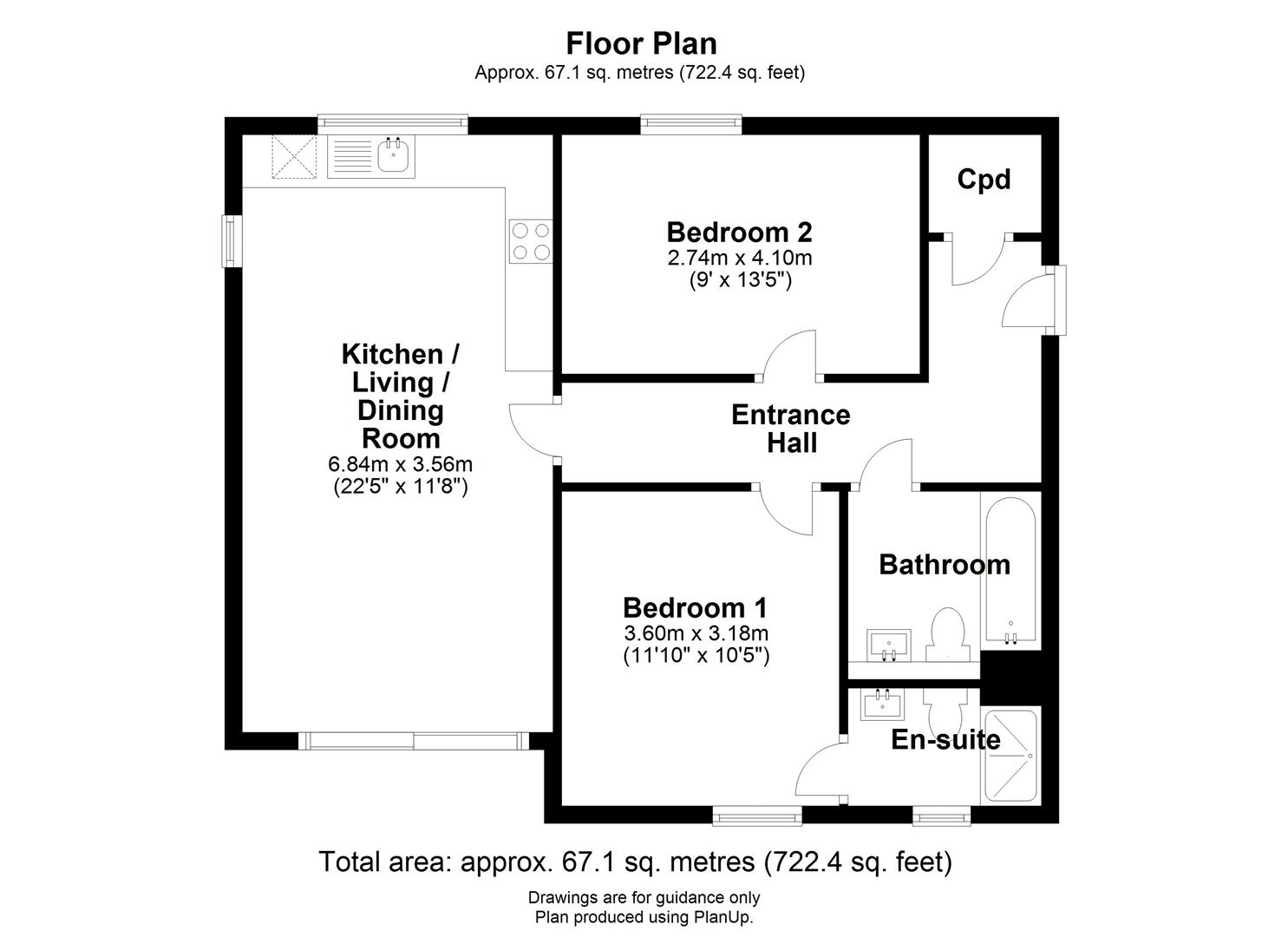 Floor plan Consort Avenue, Trumpington, Cambridge